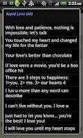 Screenshot of Rapid Love SMS - LITE