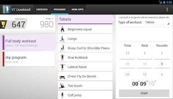 Screenshot of Virtual Trainer Dumbbell