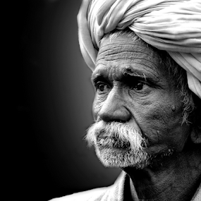 by Ajay Halder - Black & White Portraits & People
