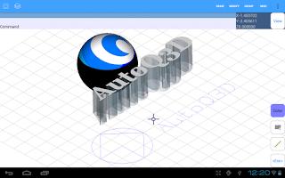 Screenshot of AutoQ3D CAD