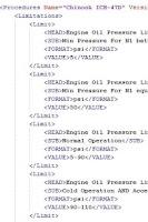 Screenshot of Aircraft Limits and Procedures
