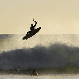 surf trick 1 by Magdalena Wysoczanska - Sports & Fitness Surfing ( water, surfing, guy, surfer, wave, board, surf, people )