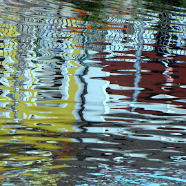 Water Painting by Rumiana Doncheva - Abstract Patterns ( abstract, water, patterns, reflections, river )