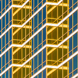 Gold windows by Giancarlo Bisone - Abstract Patterns ( las vegas, building, reflection, window, gold )