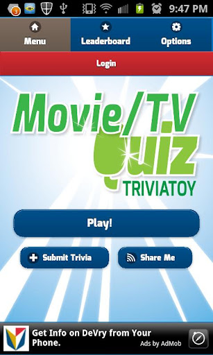 Movie TV Quiz Trivia Toy