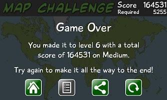 Screenshot of Map Challenge