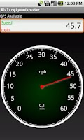 Screenshot of BluTorq Speedometer