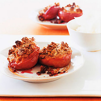 Amaretti-Stuffed Peaches