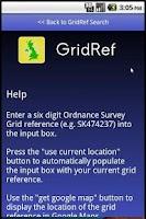Screenshot of GridRef
