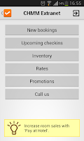 Screenshot of CHMM Extranet