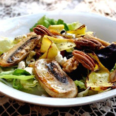 Zucchini, Mushroom, Walnut and Blue Cheese Salad