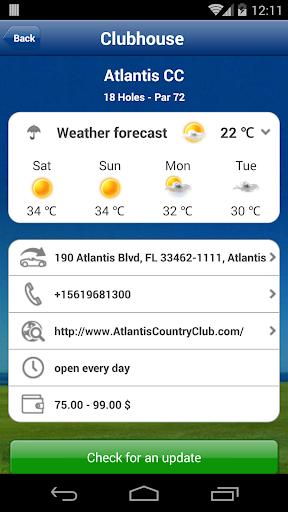 Mobitee GPS Golf Premium - screenshot