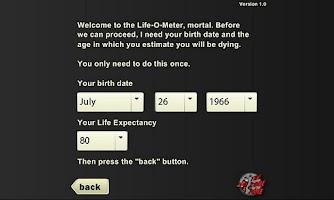 Screenshot of Life-O-Meter
