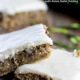 Zucchini Bars with Brown Butter Frosting