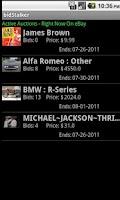 Screenshot of bidStalker Lite for eBay