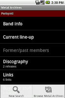 Screenshot of Metal Archives