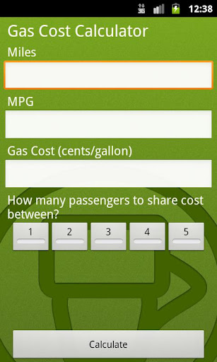Gas Petrol Price Calculator