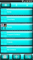 Screenshot of exDialer Jelly Cyan Theme