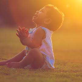 by Titoni Thomas - Babies & Children Babies ( norah, dubai, happy, uae, baby, cute, clapping )