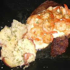 Filet Mignon with Garlic Shrimp Cream Sauce