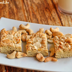 Salty Sweet White Chocolate Cashew Bars