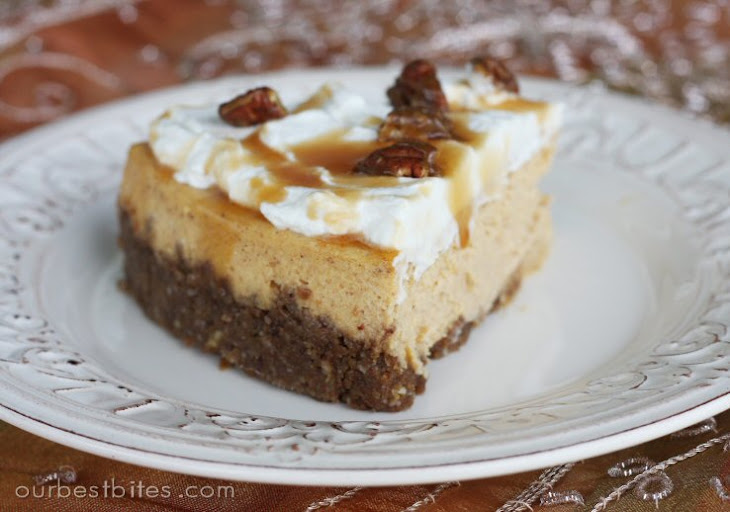 Pumpkin Cheesecake with Pecan-Gingersnap Crust Recept | Yummly