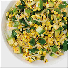 Grilled Corn Poblano Salad with Chipotle Vinaigrette