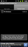 Screenshot of Chicago Transit Tracker Lite