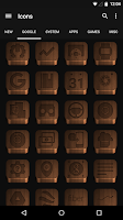 Screenshot of Dark Wood - Icon Pack