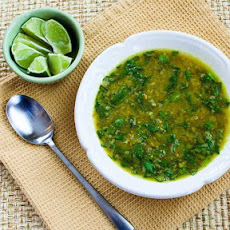 Indian-Spiced Slow Cooker Red Lentil Soup Recipe with Spinach and Coconut Milk (Vegan, Gluten-Free)