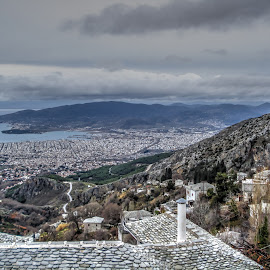 Volos by Stratos Lales - Landscapes Travel ( clouds, houses, sky, sea, traditional )