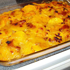Scalloped Potatoes and Butternut Squash With Leeks