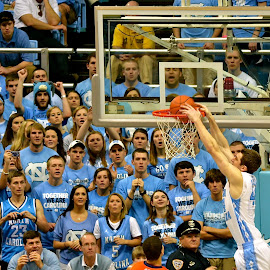 Slam Dunk by Tyrell Heaton - Sports & Fitness Basketball ( unc, basketball slam dunk, ncaa, chapel hill, acc,  )