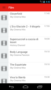 Italian Television Guide Free - screenshot
