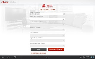 Screenshot of VIVIENDA BAC