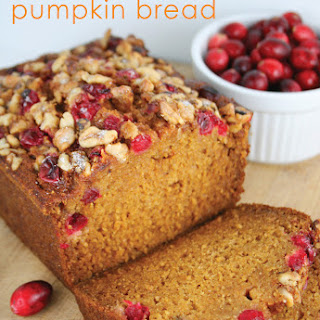 Lowfat Cranberry Pumpkin Bread