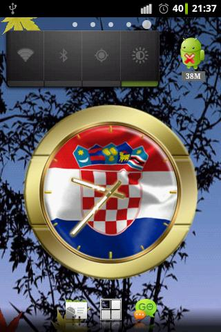 Croatia flag clocks