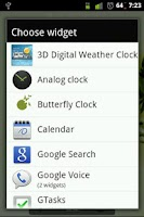 Screenshot of Butterfly Clock