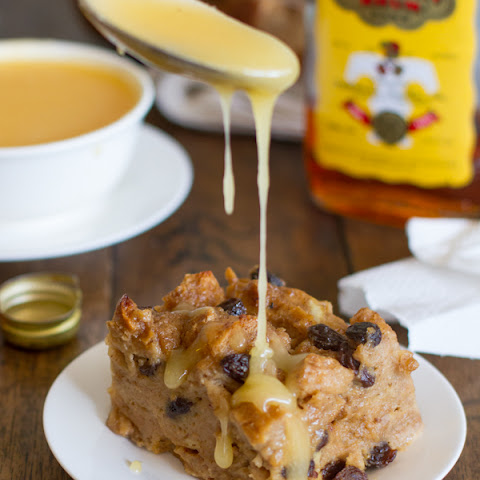 Bread Pudding with Hot Butter Rum Sauce