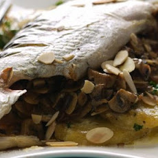 Stuffed Trout With Mushrooms And Almonds