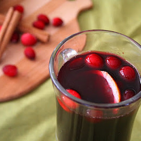 Cranberry Ginger Mulled Wine (Low Carb and Gluten Free)