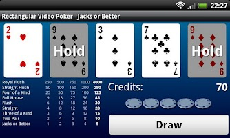 Screenshot of Rectangular Video Poker