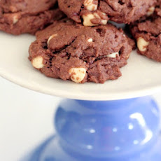 Double Chocolate Peanut Butter and White Chip Cookies
