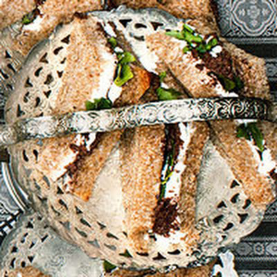 Goat-Tea Sandwiches