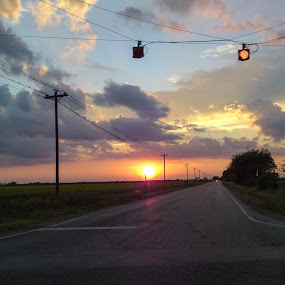 Texas Highway Sunset by Colin Toone - Instagram & Mobile Other (  )
