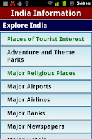 Screenshot of IndiaInfo - India Information