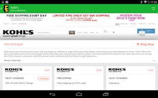 Screenshot of Ebates Cash Back & Coupons