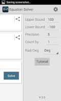 Screenshot of Equation Solver