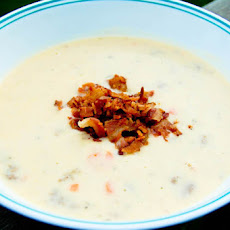 Cheesy Beefy Potato Soup