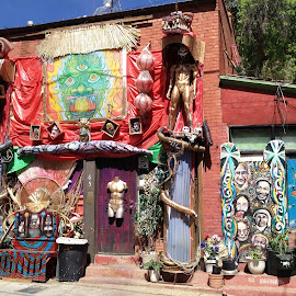 Garbage House by Joyce Thomas - Buildings & Architecture Homes ( trashy house, house az, garbage house, bisbee house,  )